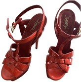 Saint Laurent Tribute Red Patent leather Sandals