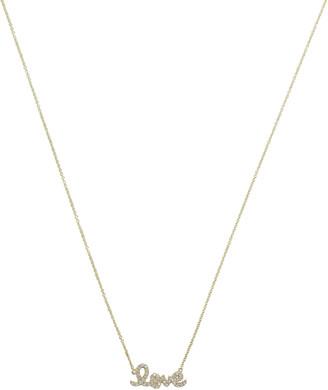 Sydney Evan Script Love Diamond Necklace