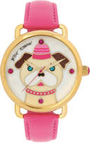 Betsey Johnson Women's Fuchsia Imitation Leather Strap Watch 42mm BJ00212-19