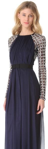 Temperley London Long Angeli Lattice Dress