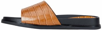 Find. Amazon Brand Women's Leather Mule Footbed Open Sandals Brown Size: 3 UK