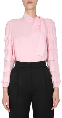 RED Valentino Ruffle-Detailed Blouse Top
