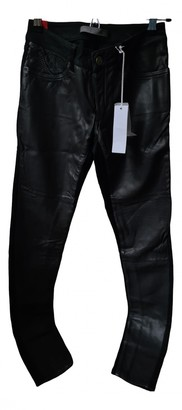 Superfine Black Leather Trousers for Women