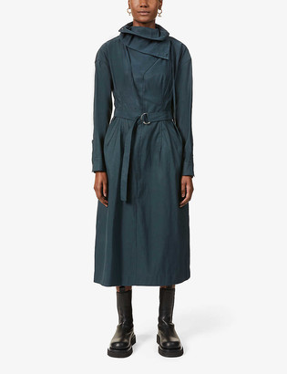 3.1 Phillip Lim Belted cotton-blend maxi shirt dress