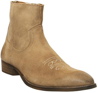 Office Buddy Western Boots Sand Suede