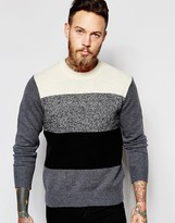 Ps By Paul Smith Paul Smith Jeans Jumper With Block Stripe 100% Lambswool