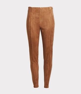 LOFT Petite Faux Suede Side Zip Leggings