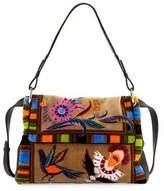 Etro Multi-Print Leather Shoulder Bag