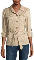 Liz Claiborne Long Sleeve Safari Jacket