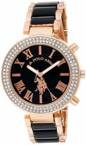 U.S. Polo Assn. Women's USC40090 Rose Gold-Tone Dress Watch