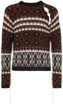 Raf Simons fairisle print stapled hole mohair wool jumper