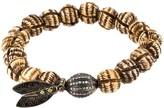 Loree Rodkin bead diamond ball and feather bracelet