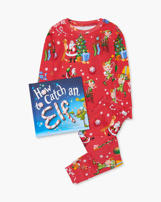 Books to Bed Kid's How to Catch an Elf Printed Pajama Gift Set, Size 2-5
