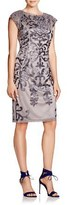 Sue Wong N5432 Sleeveless Dress In Charcoal