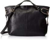 MG Collection Rinah Oversized Studded Weekender Slouchy Hobo Handbag
