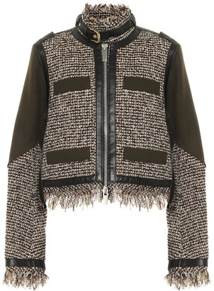 Sacai Wool-blend tweed jacket
