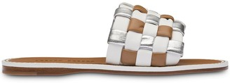 Miu Miu Woven Leather Sandals