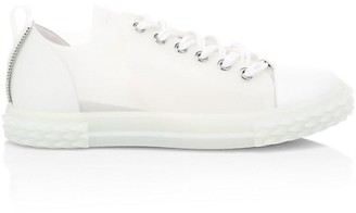 Giuseppe Zanotti Blabber Transparent Leather Low-Top Sneakers