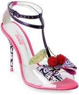 Sophia Webster Purple & Neon Plum Lana Cherry Cola Open Toe High Heel T-Strap Sandals