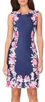 Tahari Women's Floral Scuba Sheath Dress