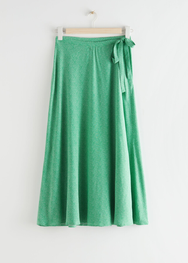 Thumbnail for your product : And other stories Tie Wrap Midi Skirt