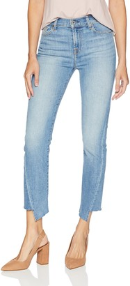 7 For All Mankind Women's Edie Cropped Straight-Leg Jean