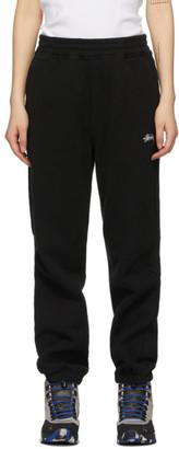 Stussy Black Stock Logo Lounge Pants