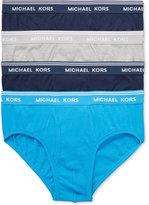 Michael Kors Men's Essentials Cotton Briefs, 4-Pack