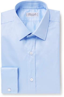 Charvet Light-Blue Slim-Fit Cotton Shirt