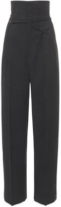 Jacquemus Le Pantalon Novio Canvas Wide Leg Pants