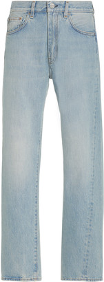 Totême Original Twisted-Seam Rigid Mid-Rise Straight-Leg Jeans