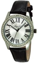Kenneth Cole New York Kenneth Cole Women's 38mm Black Leather Band Steel Case Quartz -Tone Dial Analog Watch 10029552