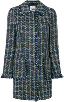 Twin-Set bouclé coat - women - Cotton/Polyamide/Polyester/Viscose - XS