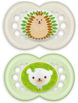 Mam Animals 6 Months 2-Pack Pacifiers in Green