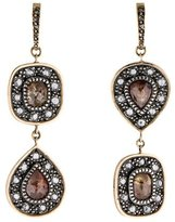 Moritz Glik 18K Sterling Diamond Drop Earrings