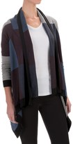 Foxcroft Color-Block Open Cardigan Sweater (For Women)