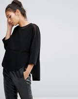 Asos Sweat Top with Sheer Inserts