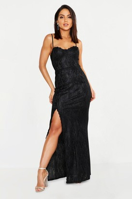 boohoo Lace Sweetheart Neck Maxi Bridesmaid Dress