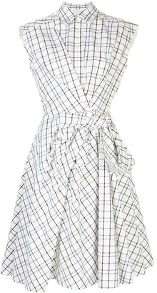 Carolina Herrera Check Print Dress