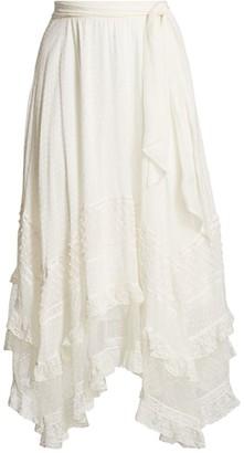 Zimmermann Brightside Handkerchief Hem Skirt