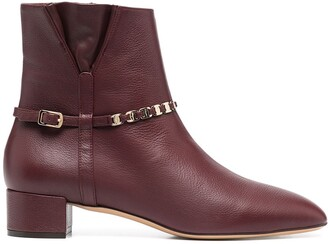Salvatore Ferragamo Chain Embellished Ankle Boots