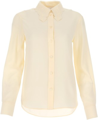 Chloé Classic Embroidered Collar Blouse