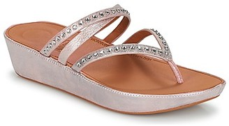 FitFlop LINNY CRISS CROSS TOE-THONG women's Flip flops / Sandals (Shoes) in Pink