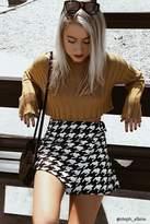 Forever 21 FOREVER 21+ Houndstooth Print Wrap Skirt