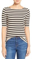 Madewell Women's Chorus Stripe Scoop Back Tee