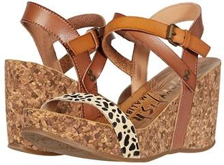 Blowfish Hirosha (Desert Sand Exotic/Tan Leopard/Arabian Sand) Women's Wedge Shoes