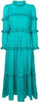 Etoile Isabel Marant ruffle trim embroidered dress