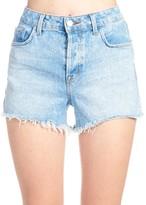 J Brand Ripped Hem Mini Shorts