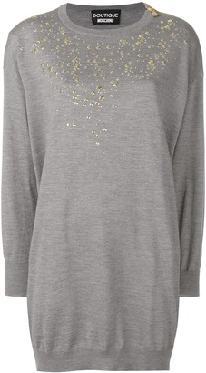 Boutique Moschino Embellished Sweater Dress
