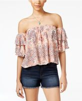 Gypsies & Moondust Juniors' Off-The-Shoulder Top